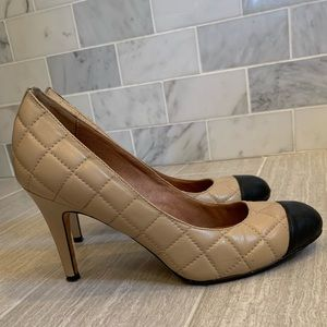 Corso Como quilted Black and Tan heels